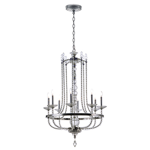Paris Polished Nickel 31-Inch Eight-Light Chandelier