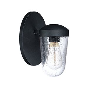 Lido Black One-Light Outdoor Wall Mount Sconce