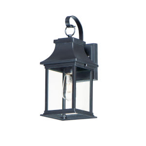Vicksburg Black One-Light Outdoor Wall Mount
