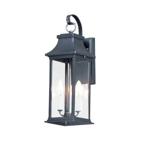 Vicksburg Black 8-Inch Two-Light Outdoor Wall Mount