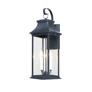 Vicksburg Black Three-Light Outdoor Wall Mount