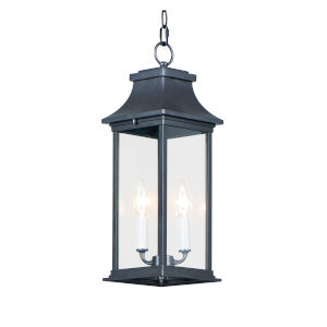 Vicksburg Black Two-Light Outdoor Chandelier