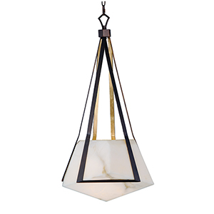 Boulder Bronze Gilt and Gold 20-Inch LED Pendant