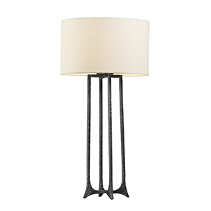 Anvil Natural Iron One-Light Table Lamp