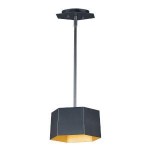 Honeycomb Black and Gold One-Light LED Mini Pendant