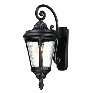 Milano Polished Nickel One-Light Outdoor Wall Mount Sconce