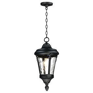 Sentry Black One-Light Adjustable Outdoor Hanging Mini Pendant
