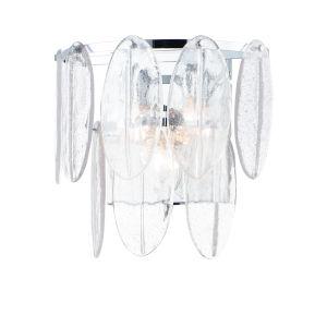 Glacier White and Polished Chrome Three-Light Bath Vanity