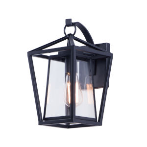 Artisan Black Eight-Inch One-Light Outdoor Wall Sconce