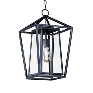 Artisan Black One-Light Outdoor Adjustable Pendant