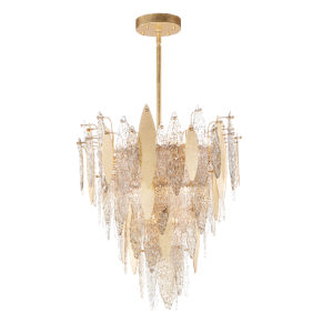Majestic Gold Leaf 12-Light Chandelier