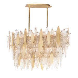 Majestic Gold Leaf 18-Light Chandelier