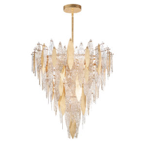 Majestic Gold Leaf 21-Light Chandelier