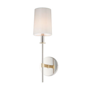 Uptown Satin Brass and Polished Nickel One-Light Wall Sconce