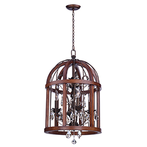 Miranda Antique Pecan 15-Inch LED Pendant
