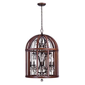 Miranda Antique Pecan 26-Inch 12-Light Pendant