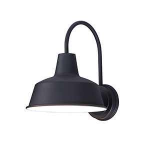 Pier M Black 10-Inch One-Light Outdoor Wall Mount Dark Sky