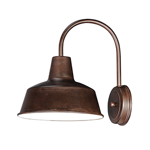 Pier M Empire Bronze 10-Inch One-Light Outdoor Wall Mount Dark Sky