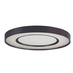 Splendor LED Bronze 23-Inch One-Light Flush Mount