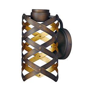 Weave Bronze Gilt and Gold Six-Inch LED Wall Sconce