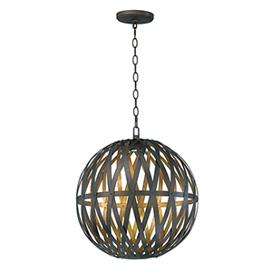 Weave Bronze Gilt and Gold 24-Inch LED Pendant