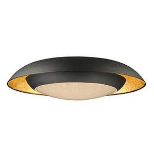 Iris Gold Leaf and Black 23-Inch LED Flush Mount