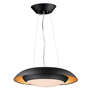 Iris Gold Leaf and Black 23-Inch LED Pendant