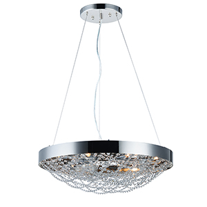 Lace Polished Nickel 25-Inch LED Pendant