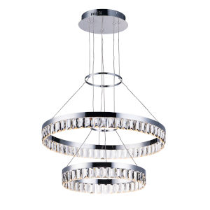Icycle Polished Chrome 24-Inch LED Adjustable Chandelier