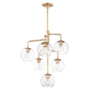 Branch Natural Aged Brass Six-Light Chandelier