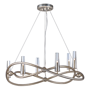 Entwine Golden Silver 31-Inch LED Chandelier