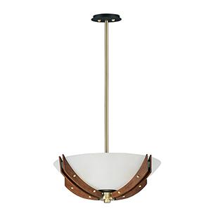 Merge Bronze 21-Inch LED Semi-Flush Mount