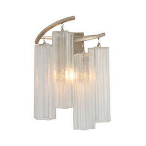Victoria Golden Silver One-Light Wall Sconce