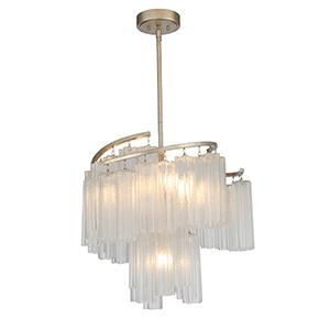 Victoria Golden Silver Seven-Light Adjustable Pendant