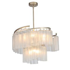 Victoria Golden Silver Nine-Light Adjustable Pendant
