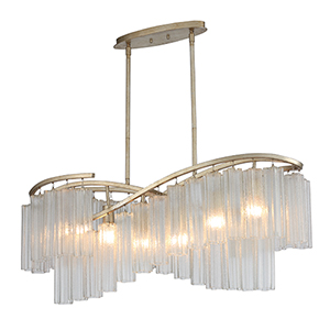 Victoria Golden Silver Six-Light Adjustable Pendant