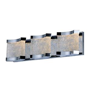 Curl LED Polished Chrome 24-Inch Six-Light Bath Vanity