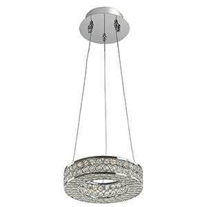 Eternity LED Polished Chrome 10-Inch One-Light Pendant