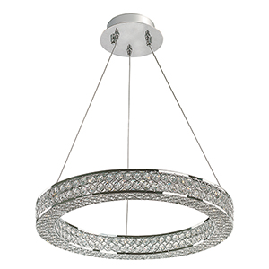 Eternity LED Polished Chrome 19-Inch One-Light Pendant