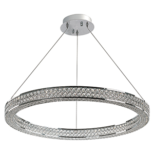 Eternity LED Polished Chrome 30-Inch One-Light Pendant