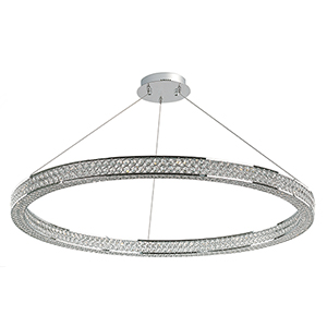 Eternity LED Polished Chrome 39-Inch LED Pendant