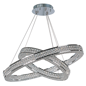 Eternity LED Polished Chrome 30-Inch LED Pendant