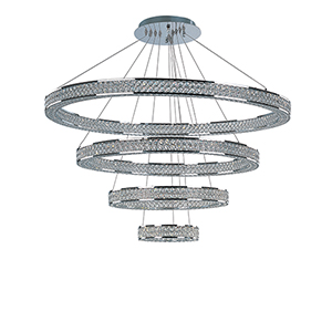 Eternity LED Polished Chrome Tiered 39-Inch LED Pendant
