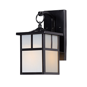 Coldwater Black Six-Inch One-Light Outdoor Wall Mount