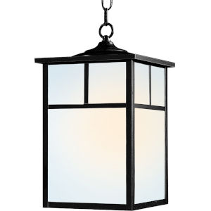 Coldwater Black Nine-Inch One-Light Outdoor Hanging Lantern
