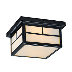 Coldwater Black Nine-Inch LED Outdoor Flush Mount
