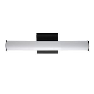 Rail Black Integrated LED ADA 18-Inch Wall Sconce