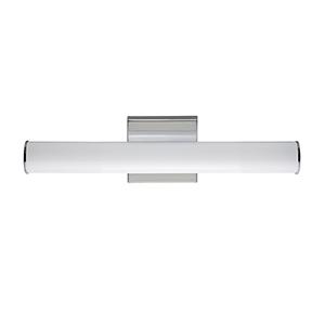 Rail Polished Chrome Integrated LED ADA 18-Inch Wall Sconce
