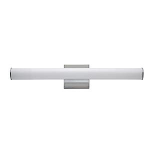 Rail Polished Chrome Integrated LED ADA 24-Inch Wall Sconce