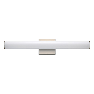 Rail Satin Nickel Integrated LED ADA 24-Inch Wall Sconce